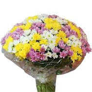 Bouquet of 55 chrysanthemums - flowers and bouquets on uaflorist.com