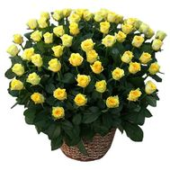 A large basket of 101 roses - flowers and bouquets on uaflorist.com