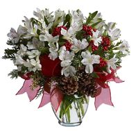 New Year''s bouquet of flowers from Alstroemeria' - flowers and bouquets on uaflorist.com