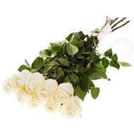 Bouquet of 9 white imported roses - flowers and bouquets on uaflorist.com
