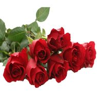 Букет із 7 червоних імпортних троянд - цветы и букеты на uaflorist.com