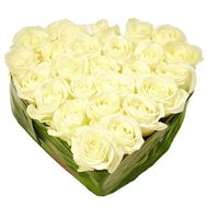 Heart of white roses - flowers and bouquets on uaflorist.com