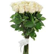 25 white import roses - flowers and bouquets on uaflorist.com