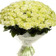 Bouquet of 121 green roses - flowers and bouquets on uaflorist.com