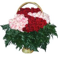 Кошик квітів з 101 троянди - цветы и букеты на uaflorist.com