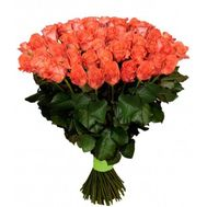 101 coral rose - flowers and bouquets on uaflorist.com