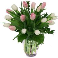Bouquet of 19 tulips - flowers and bouquets on uaflorist.com