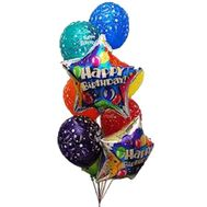 9 balloons with patterns - flowers and bouquets on uaflorist.com