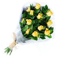 A bouquet of 13 yellow import roses - flowers and bouquets on uaflorist.com