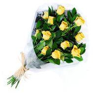 Букет із 13 жовтих імпортних троянд - цветы и букеты на uaflorist.com