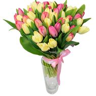 Bouquet of 51 tulips - flowers and bouquets on uaflorist.com