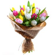 Bouquet of 21 tulips - flowers and bouquets on uaflorist.com