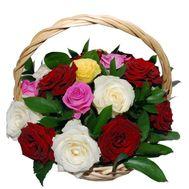 Коризна из 19 роз - цветы и букеты на uaflorist.com