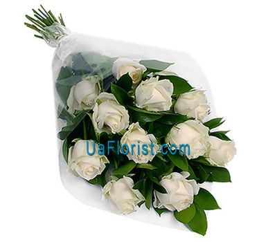 """A bouquet of 11 white roses"" in the online flower shop uaflorist.com"