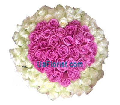 """101 rose heart"" in the online flower shop uaflorist.com"