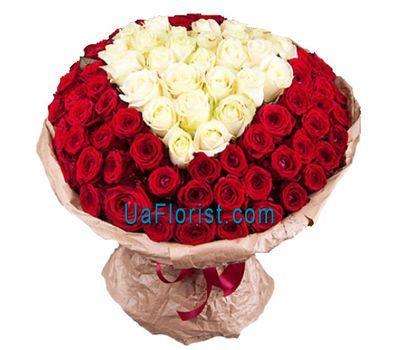 """""""101 rose heart"""" in the online flower shop uaflorist.com"""
