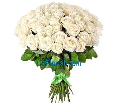 """Snow White bouquet of 55 white roses"" in the online flower shop uaflorist.com"