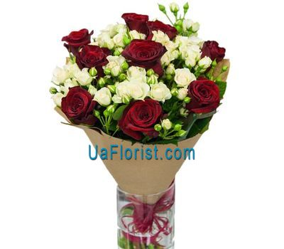 """""""Bouquet of roses and roses"""" in the online flower shop uaflorist.com"""