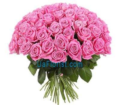 """Wonderful bouquet of pink roses"" in the online flower shop uaflorist.com"