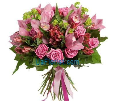 """""""An exotic bouquet with orchids"""" in the online flower shop uaflorist.com"""