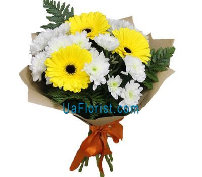 """A small bouquet of gerberas and chrysanthemums"" in the online flower shop uaflorist.com"