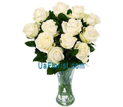 """Delicate white roses in a bouquet"" in the online flower shop uaflorist.com"