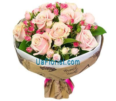 """""""A delicate bunch of roses and roses"""" in the online flower shop uaflorist.com"""