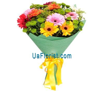 """Yakri Bouquet of gerberas and chrysanthemums"" in the online flower shop uaflorist.com"