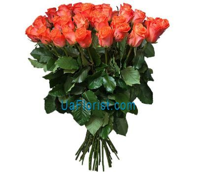"""A vivid bouquet of orange roses"" in the online flower shop uaflorist.com"