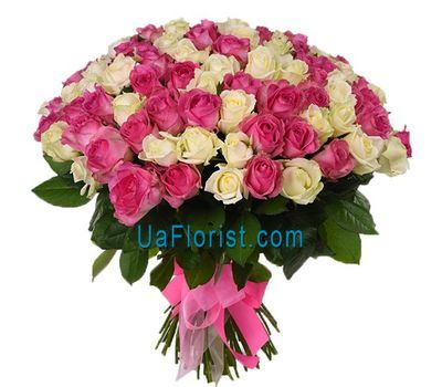 """101 rose for your beloved woman"" in the online flower shop uaflorist.com"