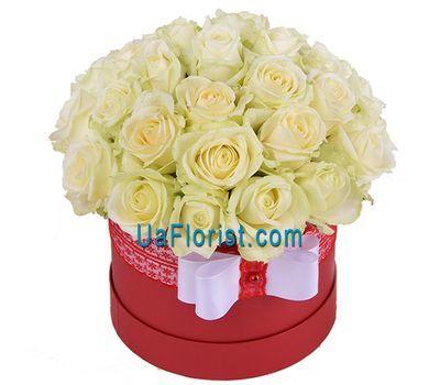 """""""35 белых роз в коробке"""" в интернет-магазине цветов uaflorist.com"""