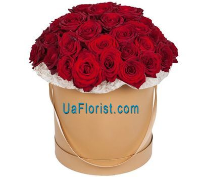 """""""51 red rose in the box"""" in the online flower shop uaflorist.com"""
