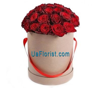 """Box of red roses"" in the online flower shop uaflorist.com"