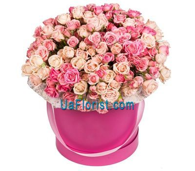 """A box of bush roses"" in the online flower shop uaflorist.com"