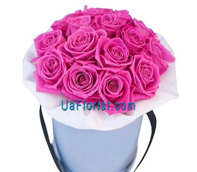 """A box of pink roses"" in the online flower shop uaflorist.com"