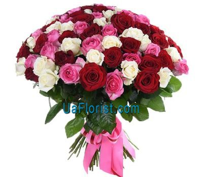 """A royal bouquet of 101 roses"" in the online flower shop uaflorist.com"