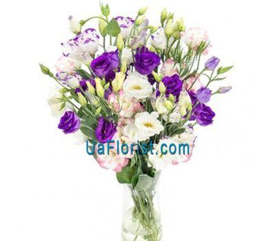 """25 lisianthus in a bouquet"" in the online flower shop uaflorist.com"