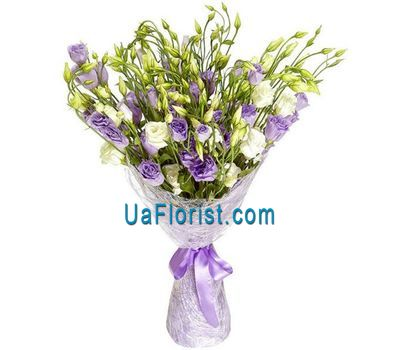 """25 lisianthus in a bouquet"" in the online flower shop uaflorist.com"