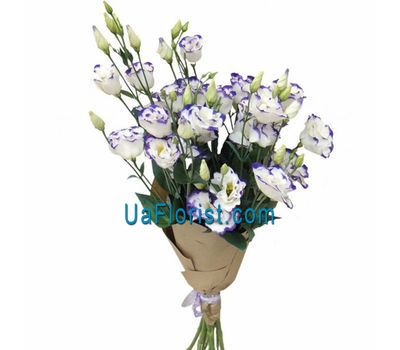 """Bouquet of white and purple eustoma"" in the online flower shop uaflorist.com"
