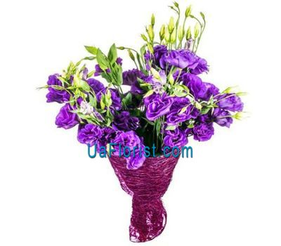 """Violet eustoma in a bouquet"" in the online flower shop uaflorist.com"