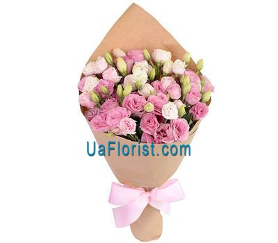 """Delicate bouquet of eustoma"" in the online flower shop uaflorist.com"