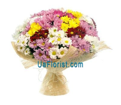 """Bouquet of 23 chrysanthemums"" in the online flower shop uaflorist.com"
