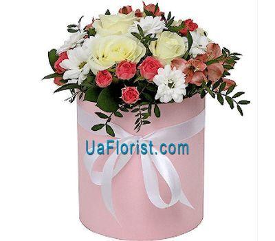 """Nice flower box"" in the online flower shop uaflorist.com"
