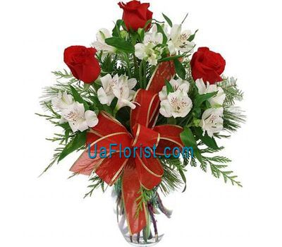 """New Year''s bouquet of flowers — Snow'"" in the online flower shop uaflorist.com"