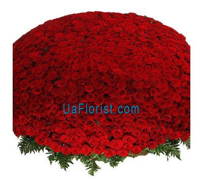 """A huge flower of 1001 red roses"" in the online flower shop uaflorist.com"