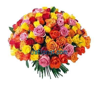 """A huge bouquet of 51st roses"" in the online flower shop uaflorist.com"