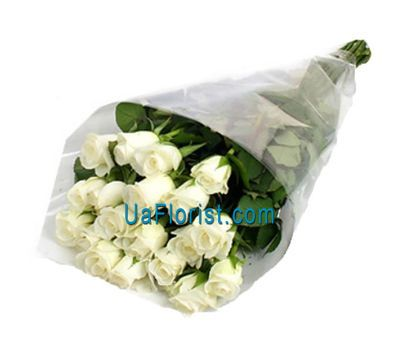 """21 imported white roses"" in the online flower shop uaflorist.com"