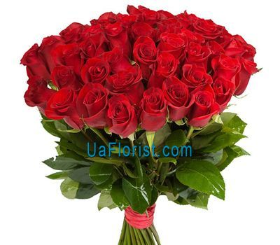 """Bouquet of 55 red roses"" in the online flower shop uaflorist.com"