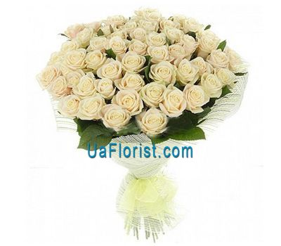"""51 white rose"" in the online flower shop uaflorist.com"