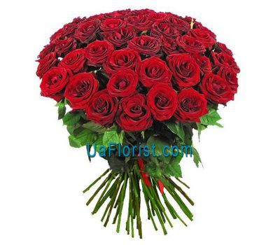 """41 red rose with greens"" in the online flower shop uaflorist.com"